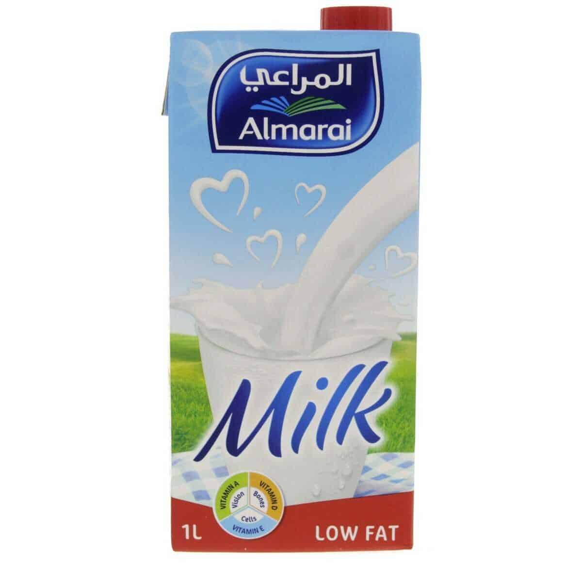 المراعي حليب قليل الدسم علبة واحدة ١ لتر أوماستورـ عمان