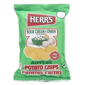 Herr's Potato Chips Sour Cream & Onion Falvored 28g