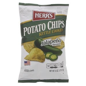 Herr's Potato Chips Kettle Cooked Jelapeno Flavored 170.1g